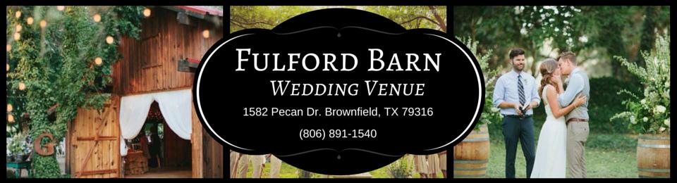 Fulford Barn Wedding Venue In Brownfield Tx